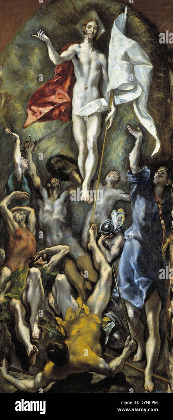 El Greco The Resurrection - Stock Image