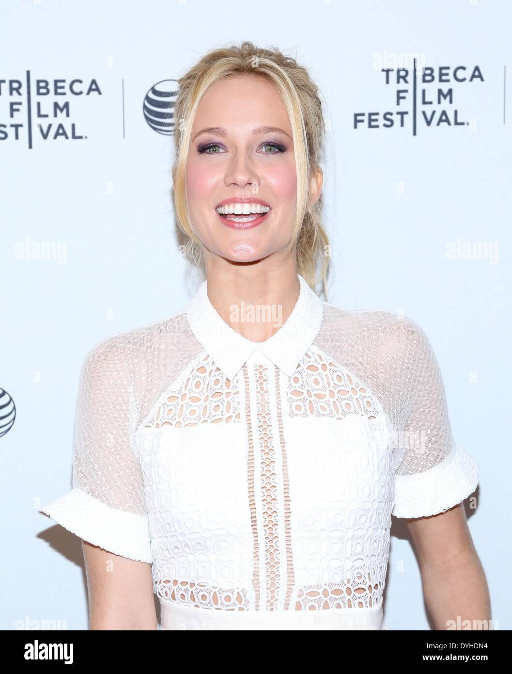 New York, NY, USA. 17th Apr, 2014. Anna Camp at arrivals for 2014 Tribeca Film Festival - GOODBYE TO ALL THAT Premiere, SVA Theatre, New York, NY April 17, 2014. Credit:  Andres Otero/Everett Collection/Alamy Live News - Stock Image