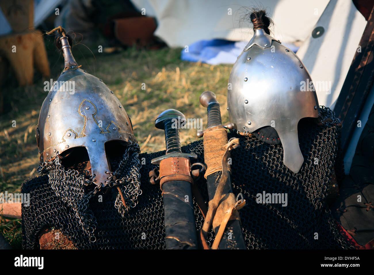 Spectacle viking helmets - Stock Image