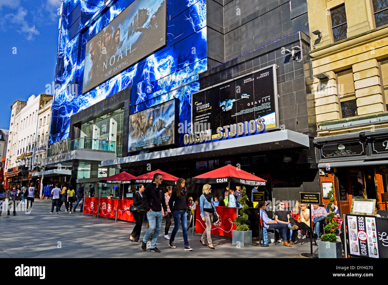 Odeon Cinema, Leicester Square, West End, London, England, United Kingdom - Stock Image