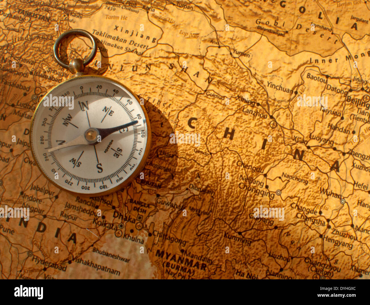 China Map Compass Stock Photos Images Alamy Printed Circuit Board Gua Of Image