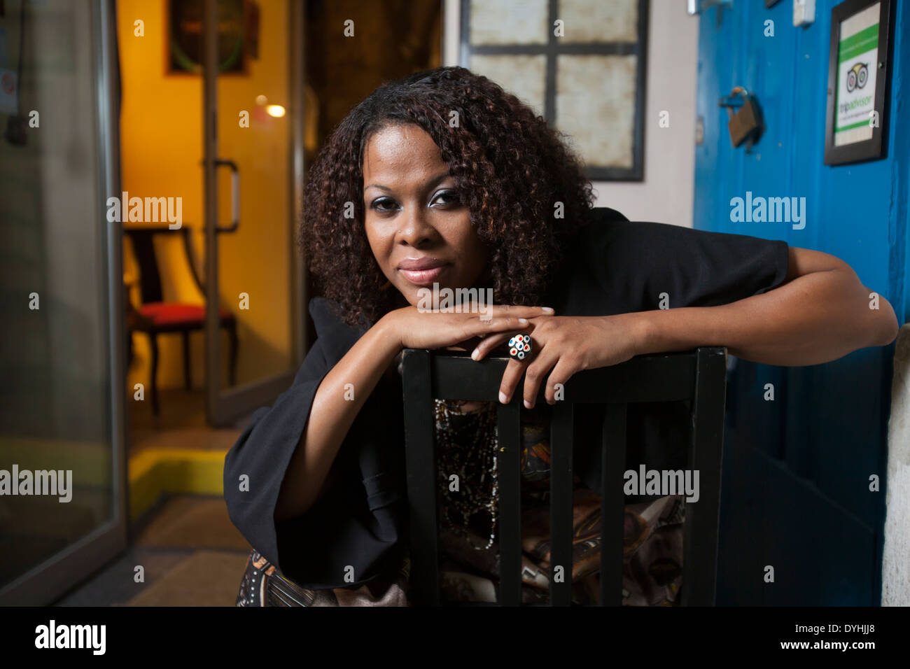 Tania Tome, singer and businesswoman from Mozambique. - Stock Image