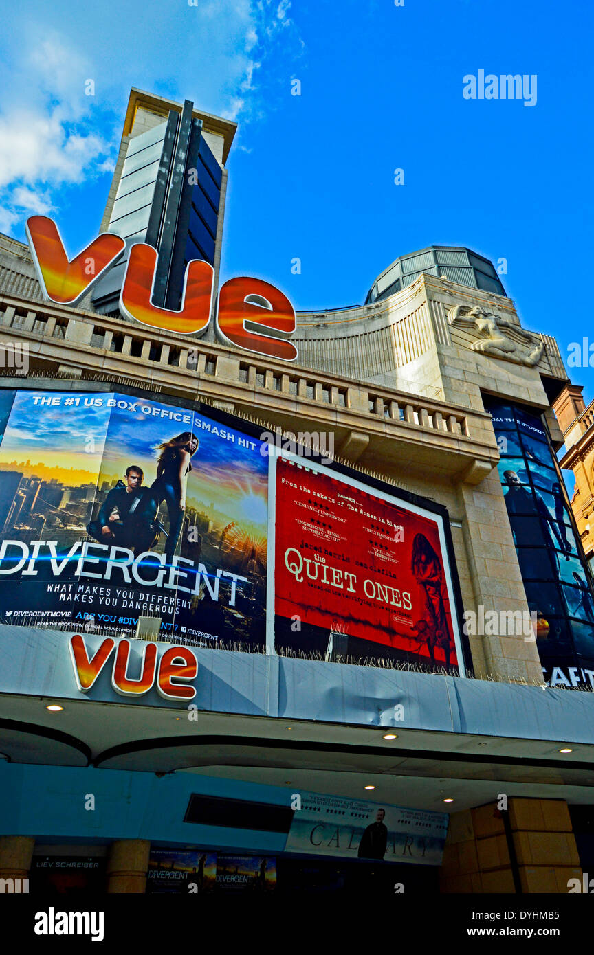 VUE Cinema, Leicester Square, West End, London, England, United Kingdom - Stock Image