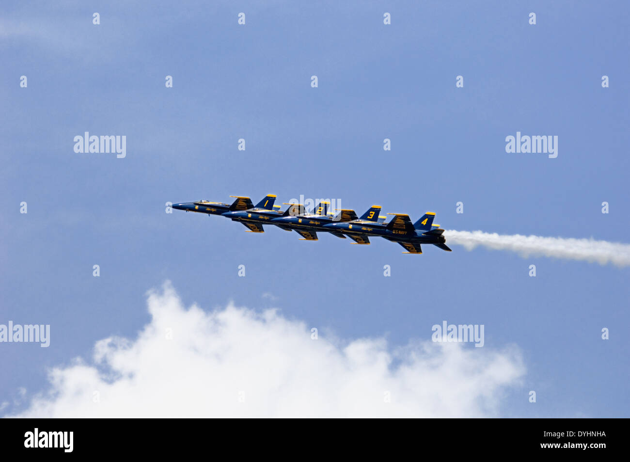 Blue Angels F/A-18 Fighter Jet Practicing for Thunder Over Louisville in Louisville, Kentucky - Stock Image