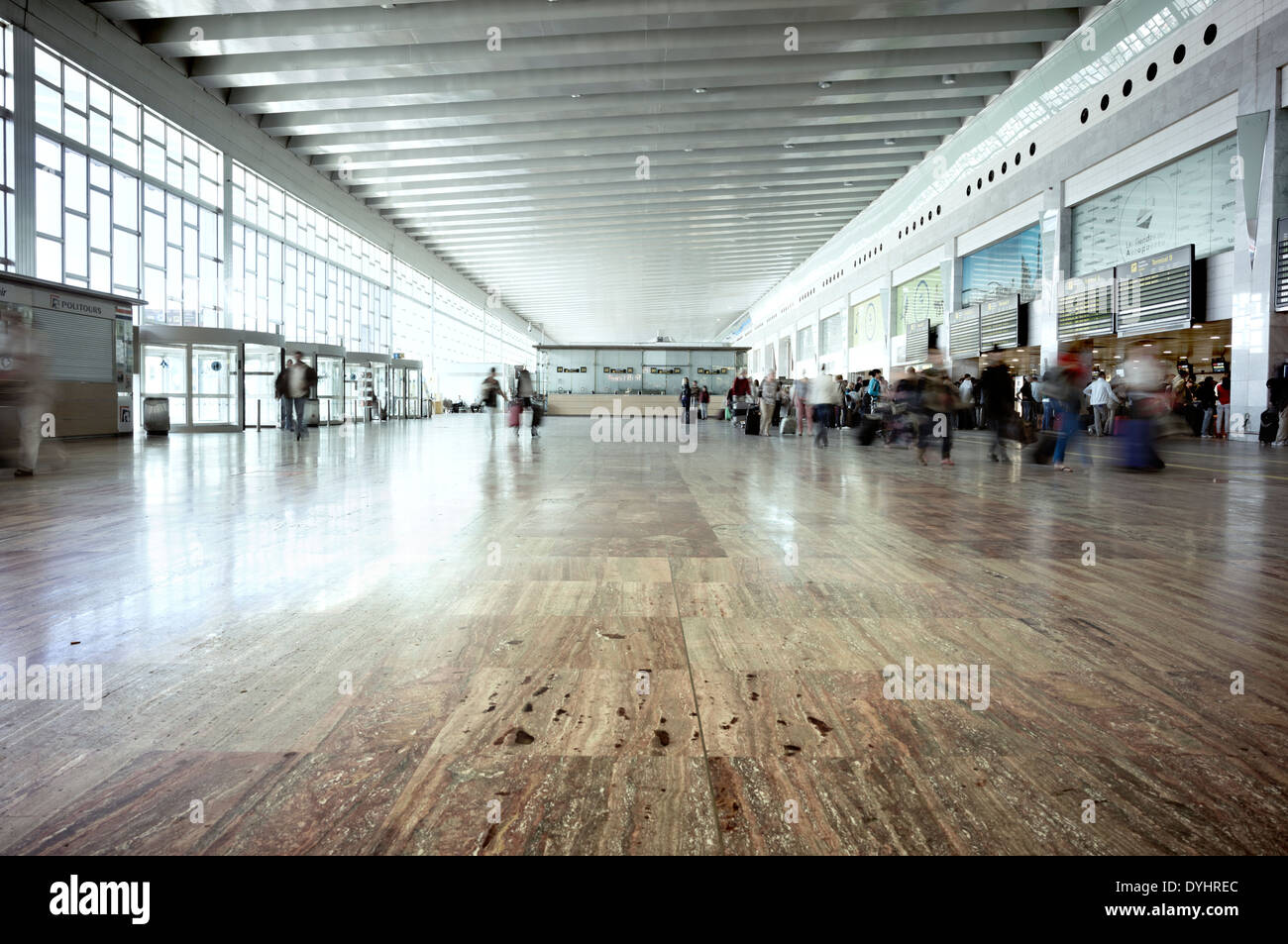 View of one of the terminals at El Prat Airport in Barcelona, Spain. - Stock Image