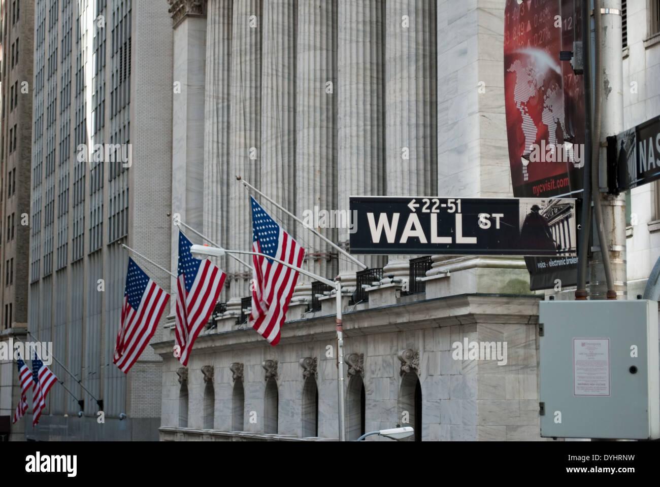 wall street - Stock Image