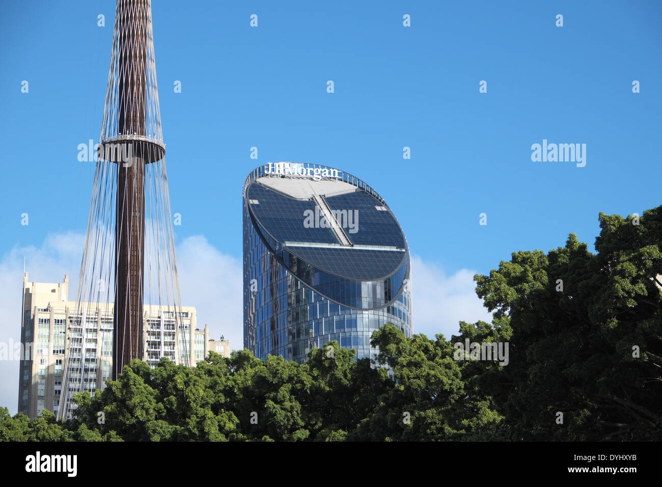 sydney's hyde park in the centre of the city - Stock Image