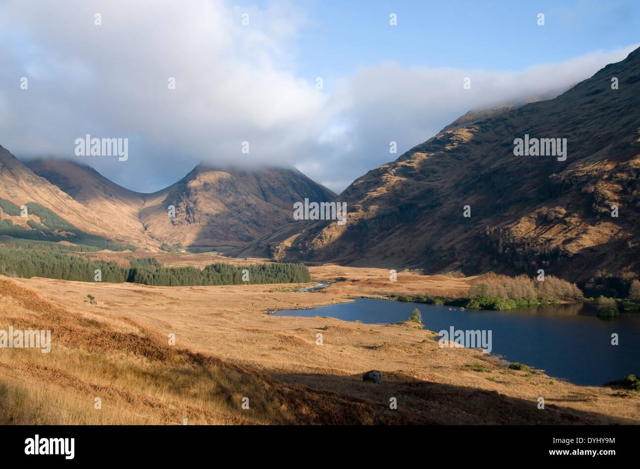 glen etive and loch etive - Stock Image