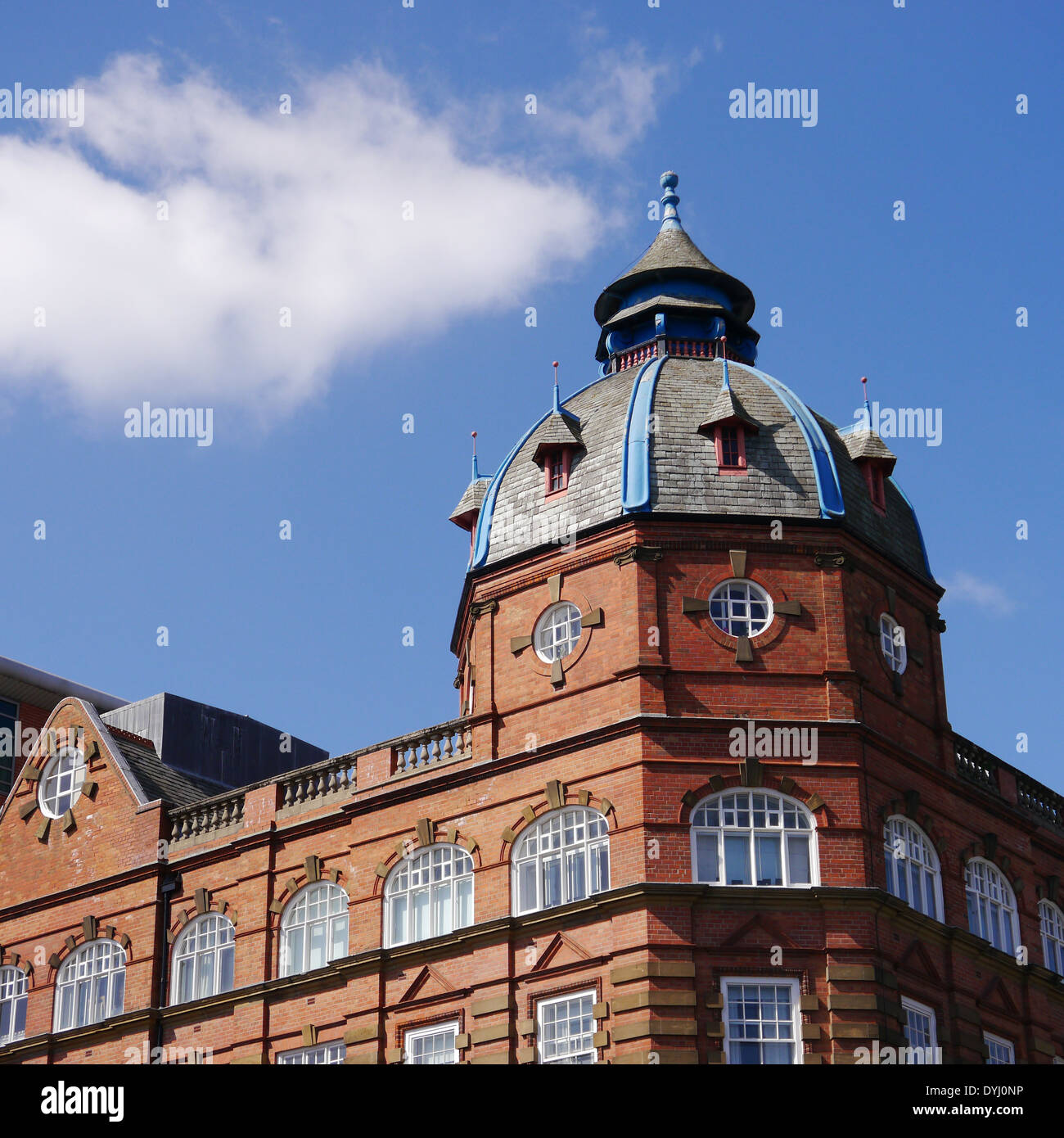 Architecture Built Architectural Features Of A Red Brick Domed Roof Stock Photo Alamy