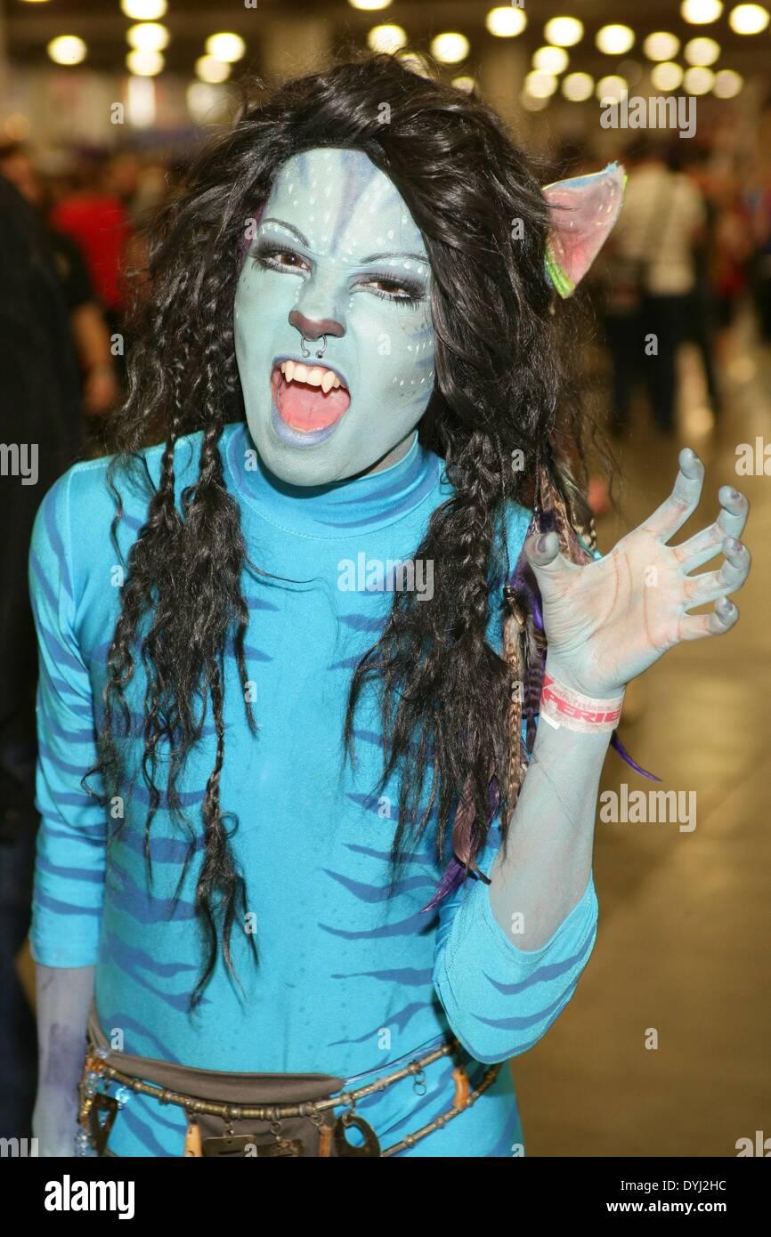 Salt Lake City UT USA. 18th Apr 2014. Fan dressed as  sc 1 st  Alamy & Avatar Neytiri Stock Photos u0026 Avatar Neytiri Stock Images - Alamy