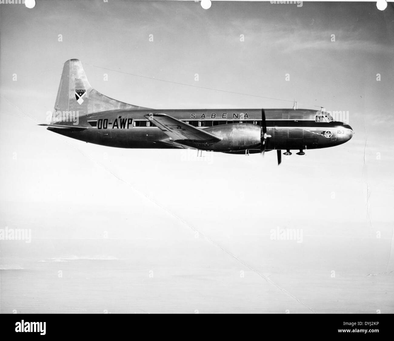 Convair 240 OO-AWP Sabena A-1400 Stock Photo
