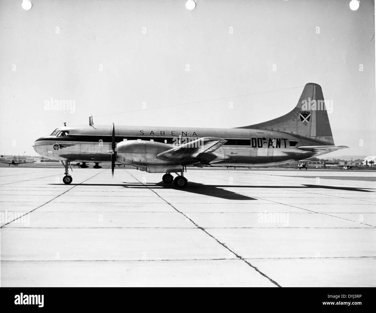 Convair 240 OO-AWT Sabena N20851 Stock Photo
