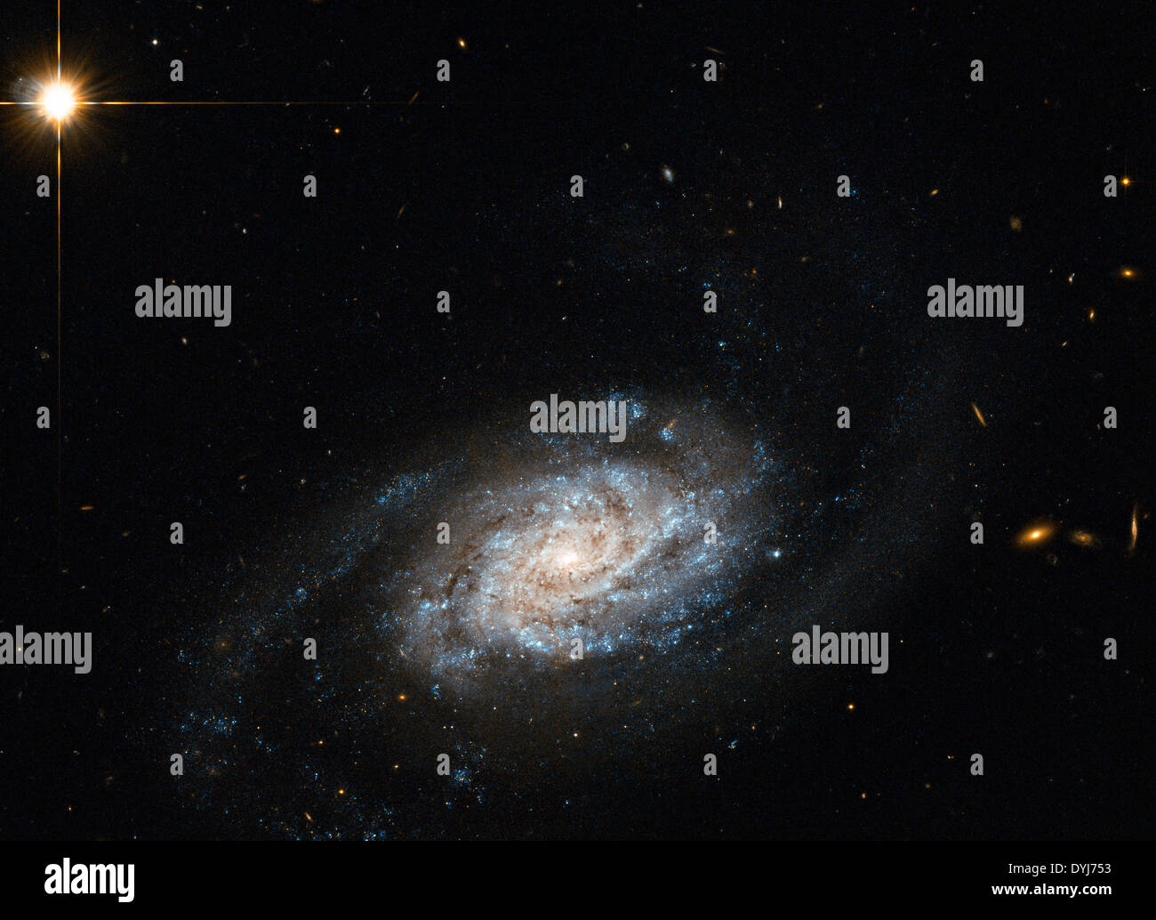 The Spiral Galaxy known as NGC 3455, which lies some 65 million light-years away from Earth in the constellation - Stock Image