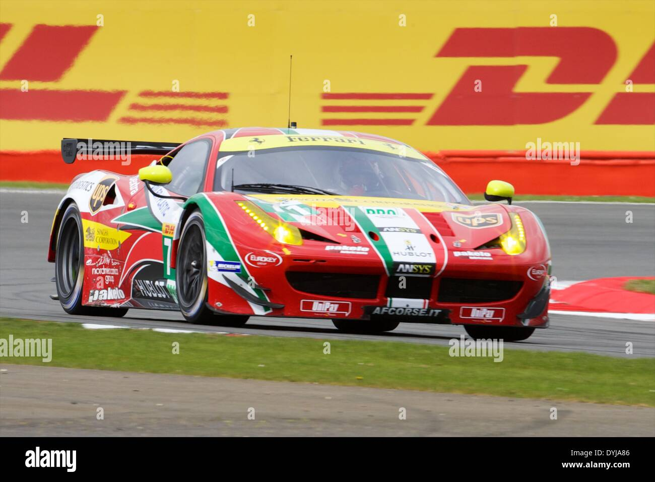 Silverstone, UK. 19th Apr, 2013. AF CORSE Ferrari F458 Italia LMGTE Pro driven by Davide Rigon (ITA) and James Calado Stock Photo