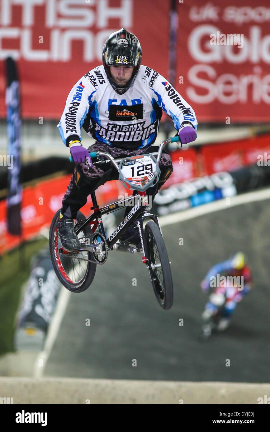 Marcel Pesek, Czech Republic - UCI BMX Supercross World Cup 2014 - Manchester, UK - Stock Image