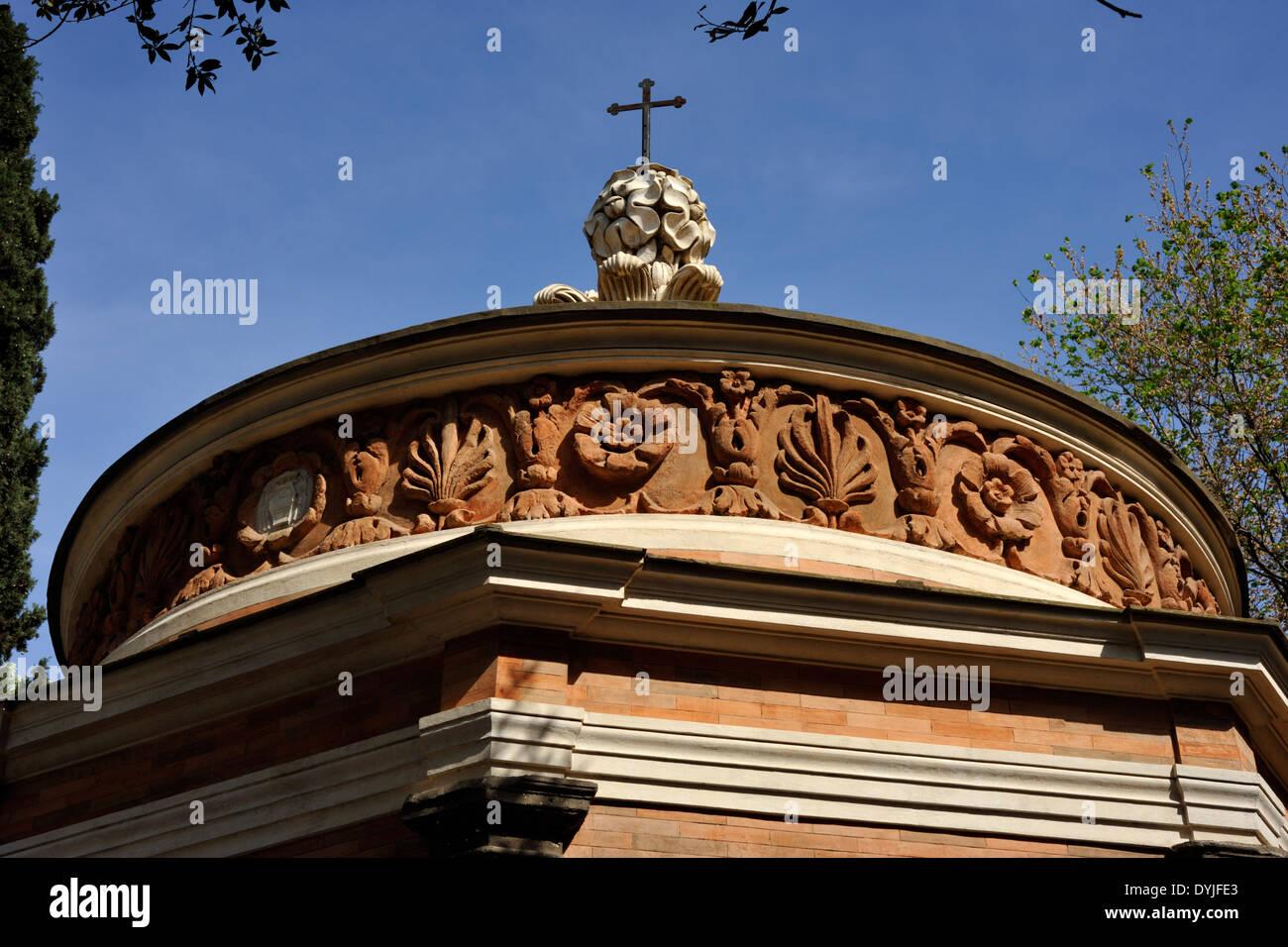 italy, rome, oratory of san giovanni in oleo, borromini frieze - Stock Image