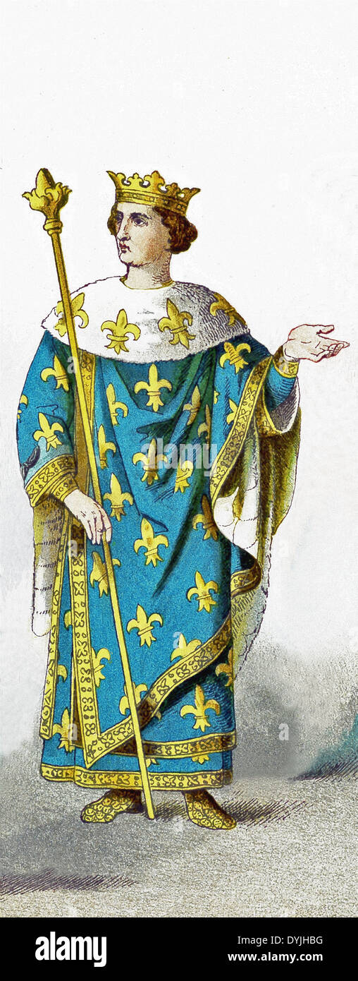Known as Philip the Fair, Philip IV was responsible for the transition of France from a feudal country to a centralized state. - Stock Image