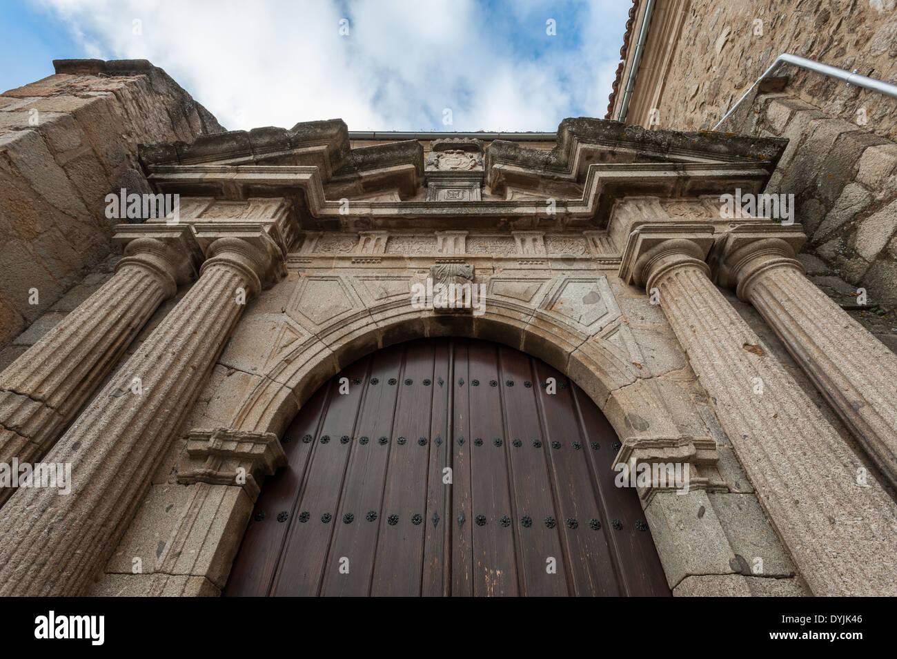 Church of Santa Maria in Hervas, Caceres, Extremadura, Spain, Europe - Stock Image