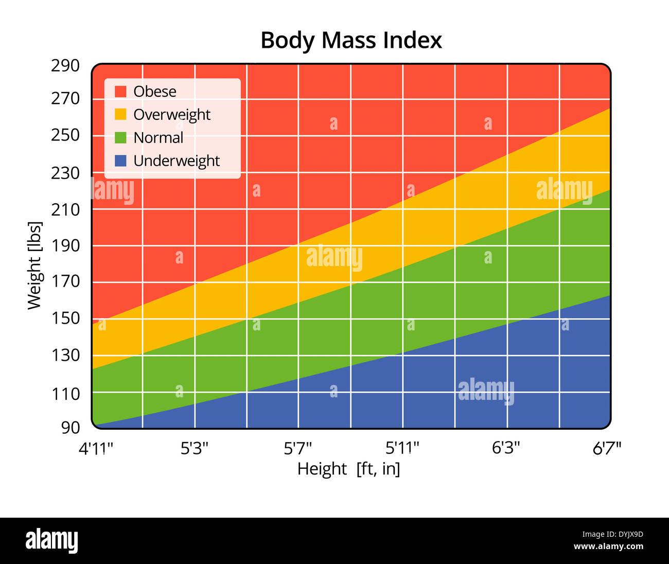Bmi Chart Stock Photos Bmi Chart Stock Images Alamy