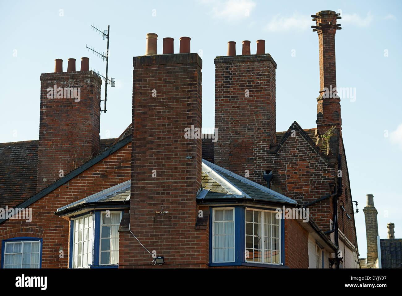 Chimney pots - Stock Image