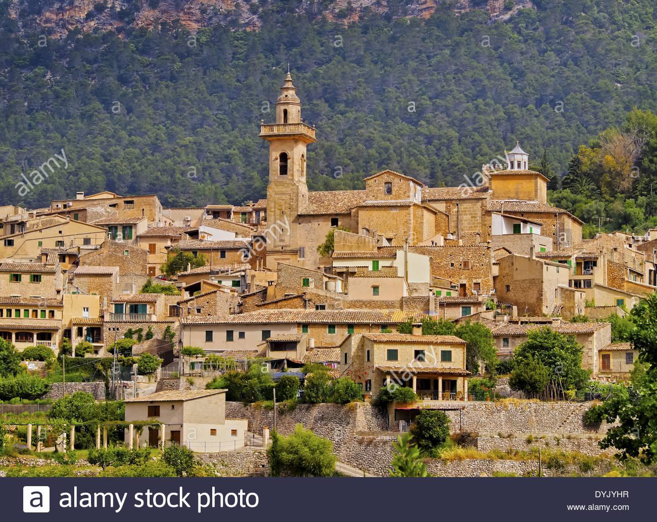 View of Valldemossa on Mallorca, Balearic Islands, Spain Stock Photo