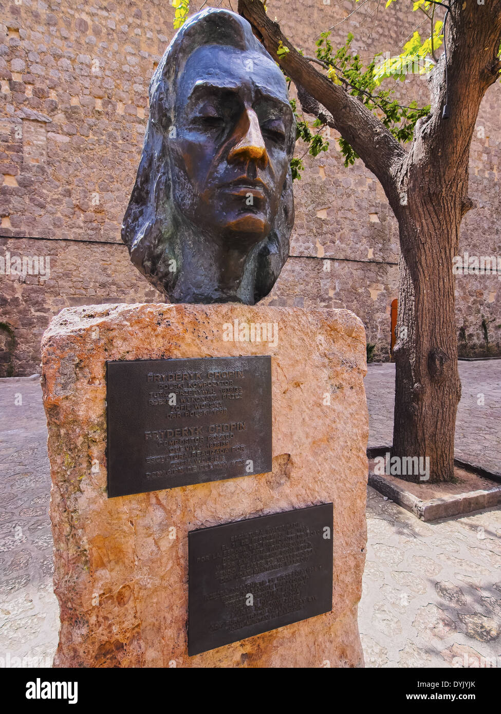 Chopin Monument in Valldemossa on Mallorca, Balearic Islands, Spain Stock Photo