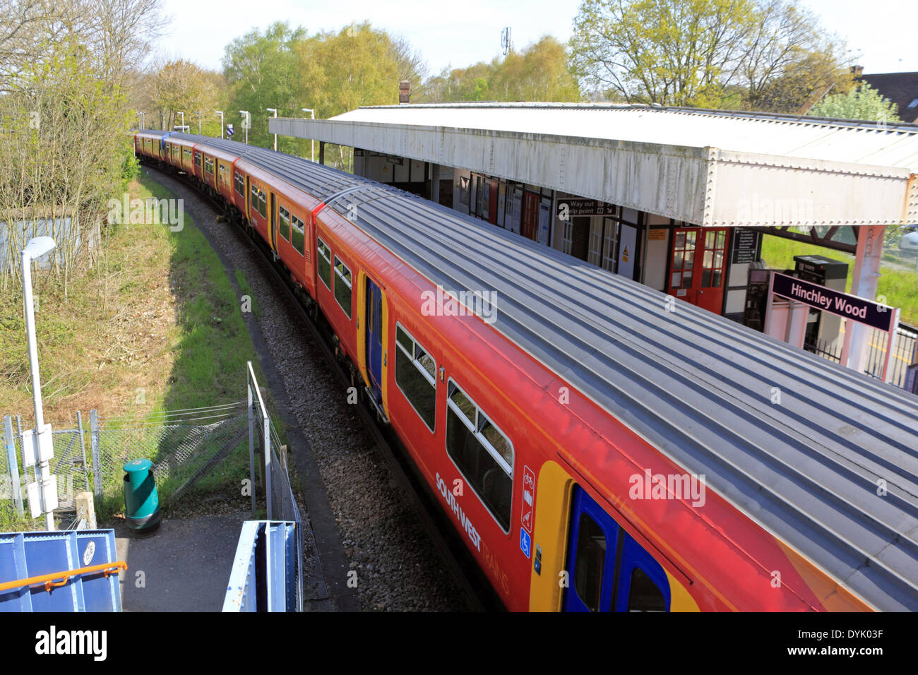 Railway station Hinchley Wood, Surrey, England, UK. - Stock Image