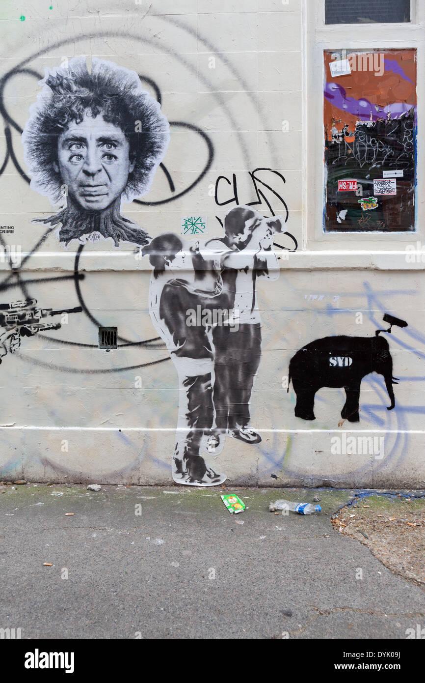 Street art in Shoreditch, London - Stock Image