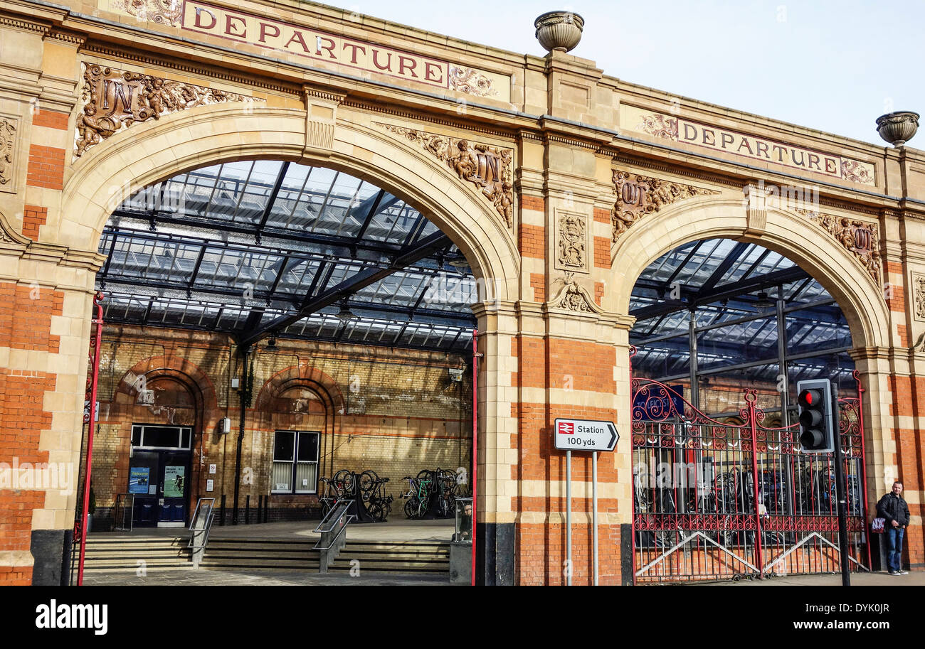 Leicester train station. UK. - Stock Image