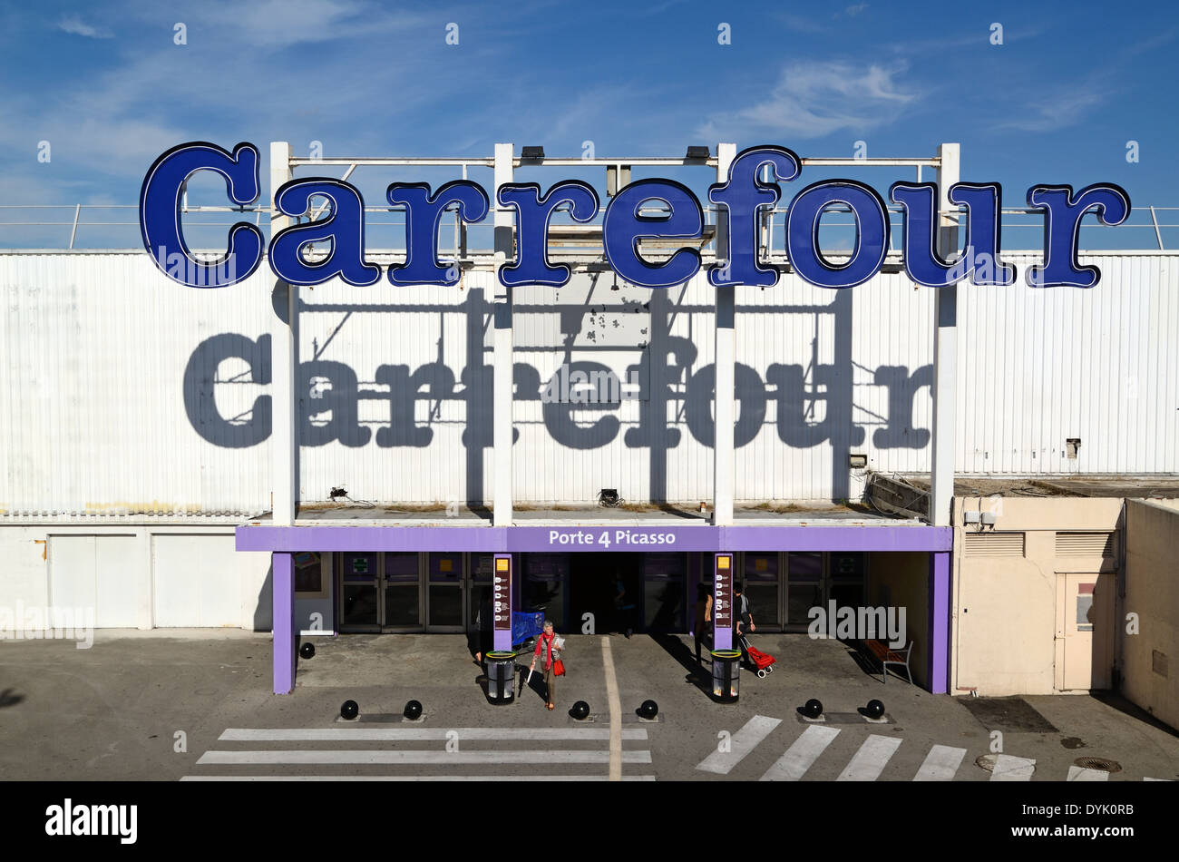 Carrefour Supermarket Les Milles Commercial or Shopping Center or Mall Aix-en-Provence Provence France - Stock Image