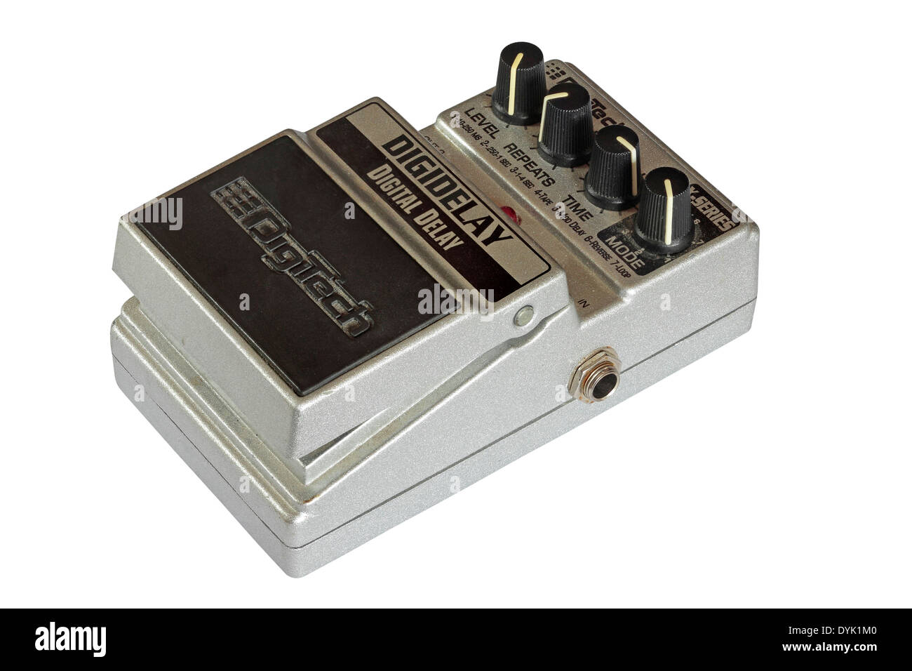 DigiTech X-Series Digital Delay guitar effects pedal isolated on white background - Stock Image