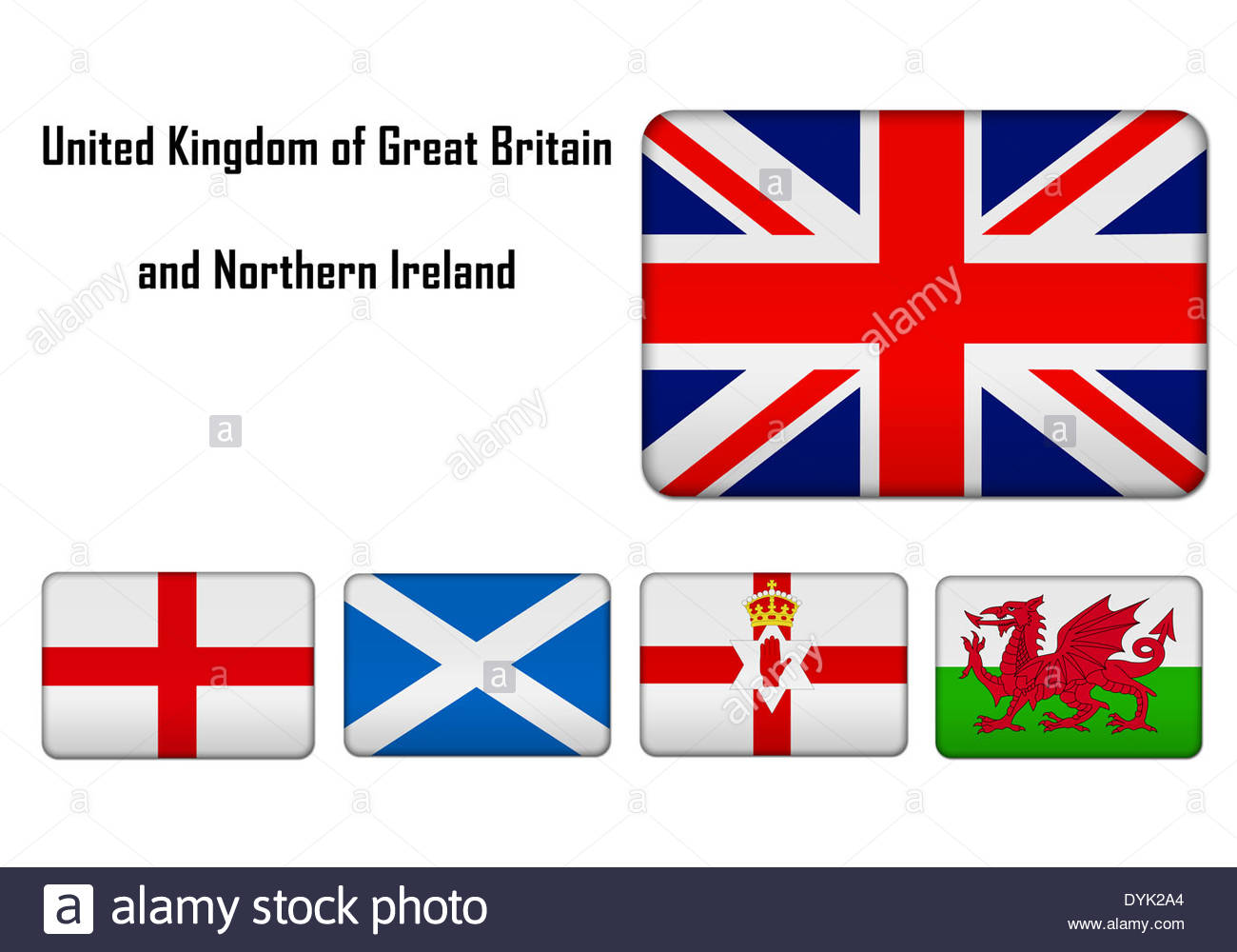 United Kingdom of Great Britain and Northern Ireland - flags and