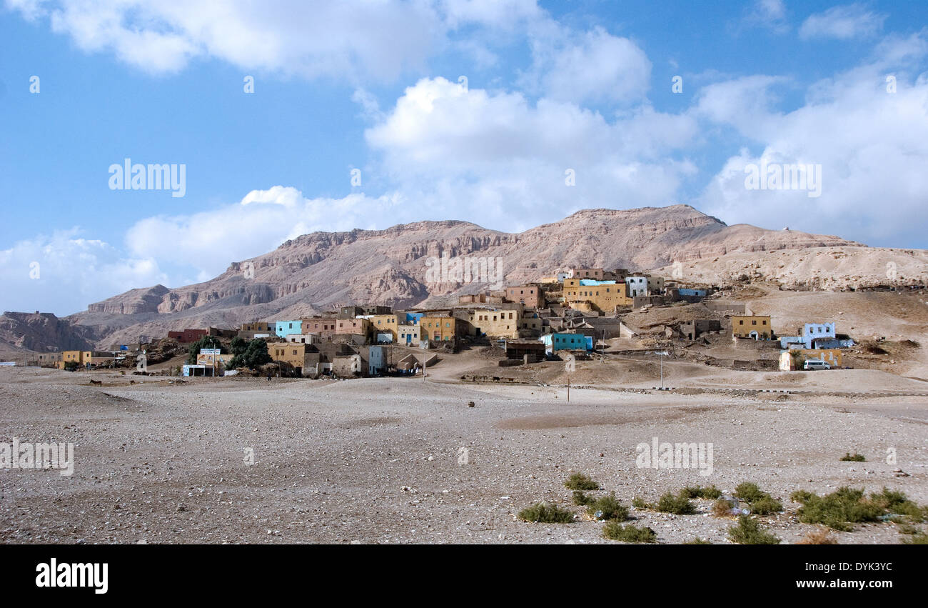 Luxor West Bank, the old village of Kurnet Murai today disappeared. - Stock Image