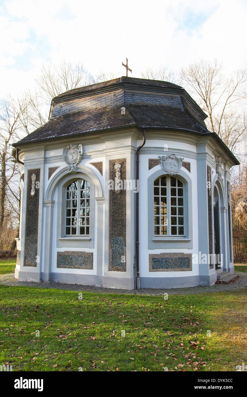 Jagdschloss Falkenlust in Bruhl near Bonn, North Rhine Westphalia, Germany. - Stock Image