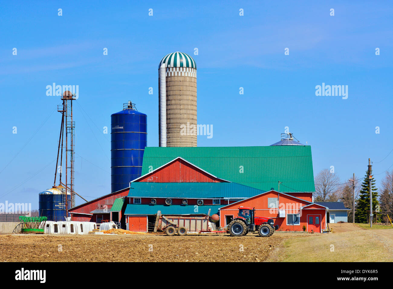 Ontario, Canada, Farm in Mennonite Country, St. Jacobs Village - Stock Image