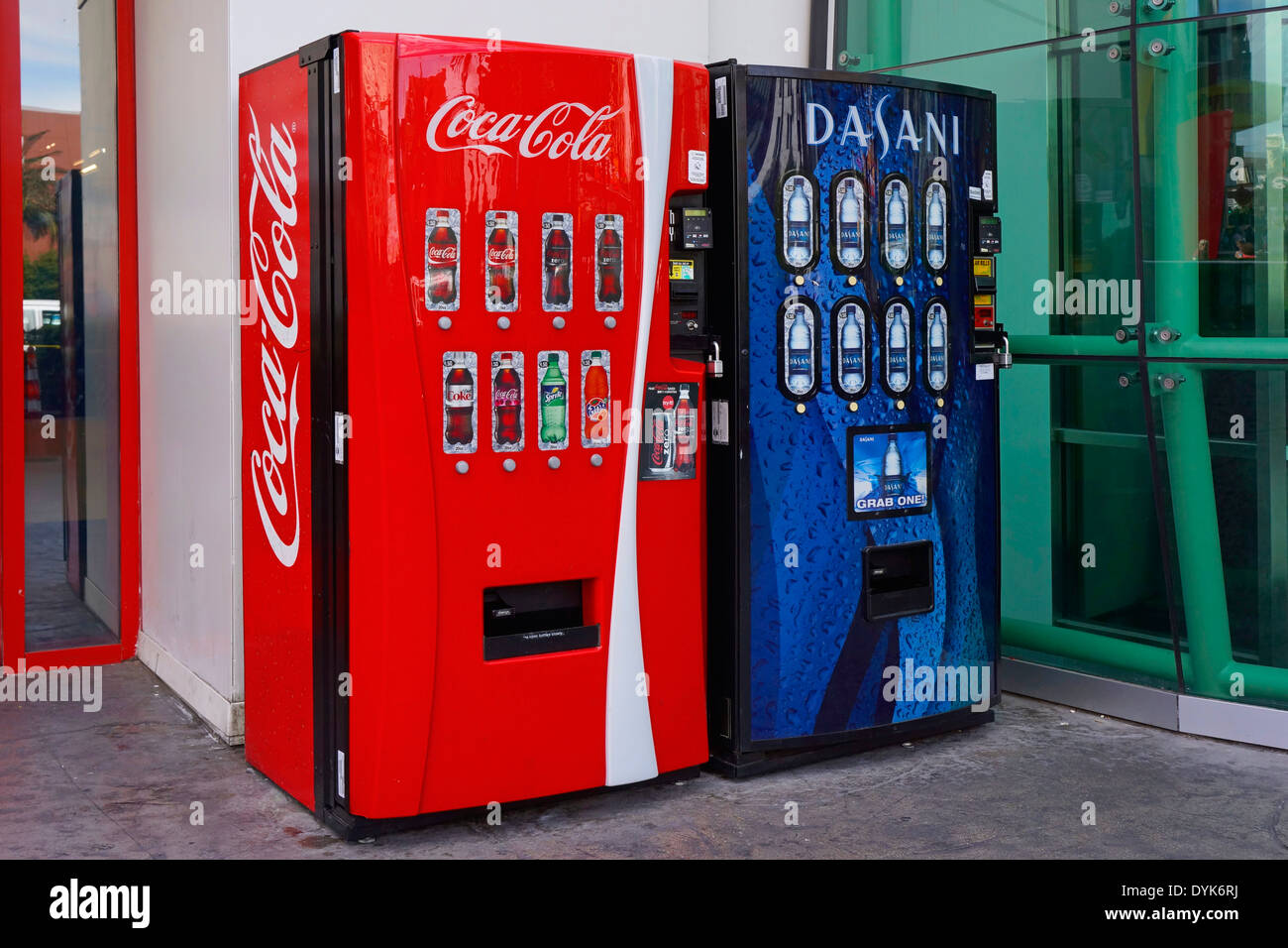 Soft Drinks and Water Vending Machines - Stock Image