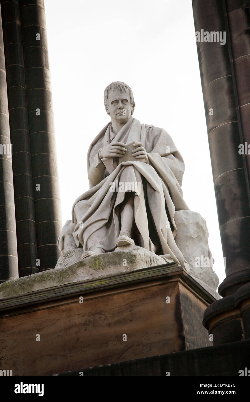 Sir Walter Scott monument, Edinburgh, Scotland - Stock Image