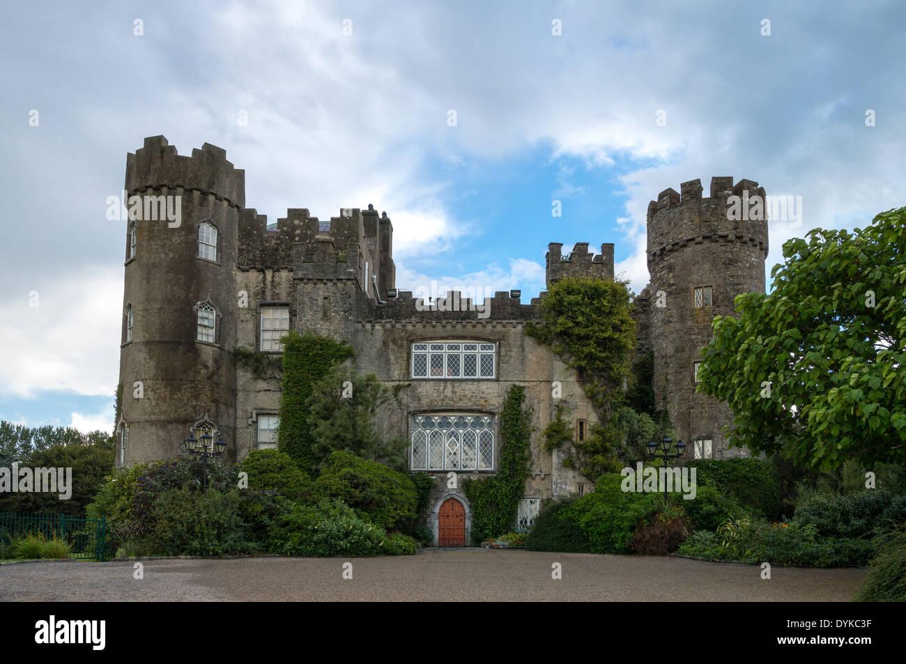 Ireland, Dublin county, the Malahide castle - Stock Image