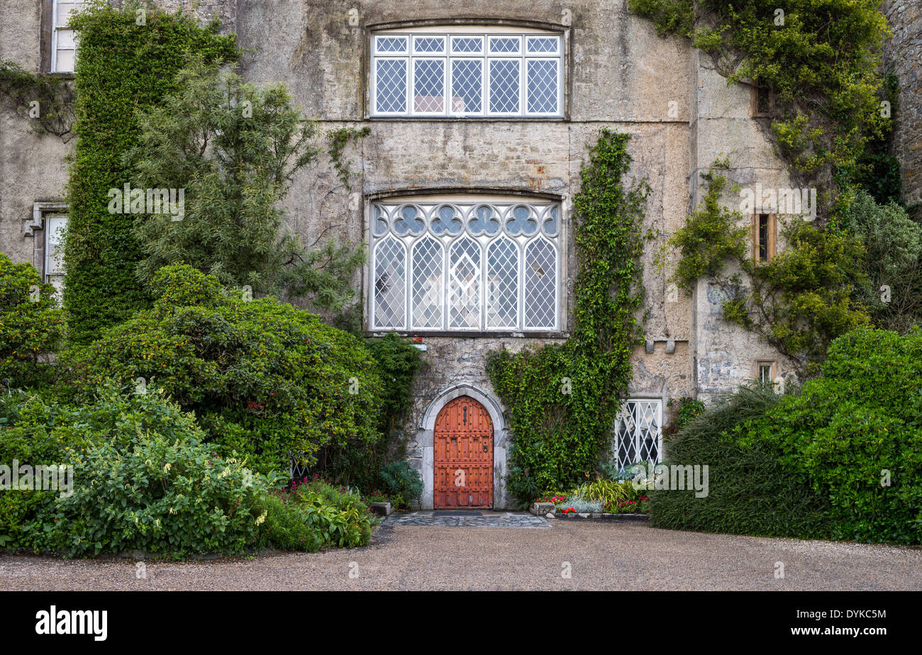 Ireland, Dublin county, the Malahide castle entrance - Stock Image