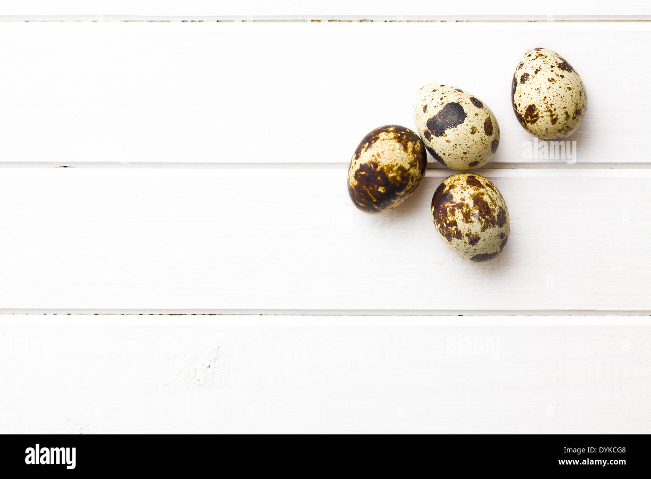 top view of quail eggs - Stock Image