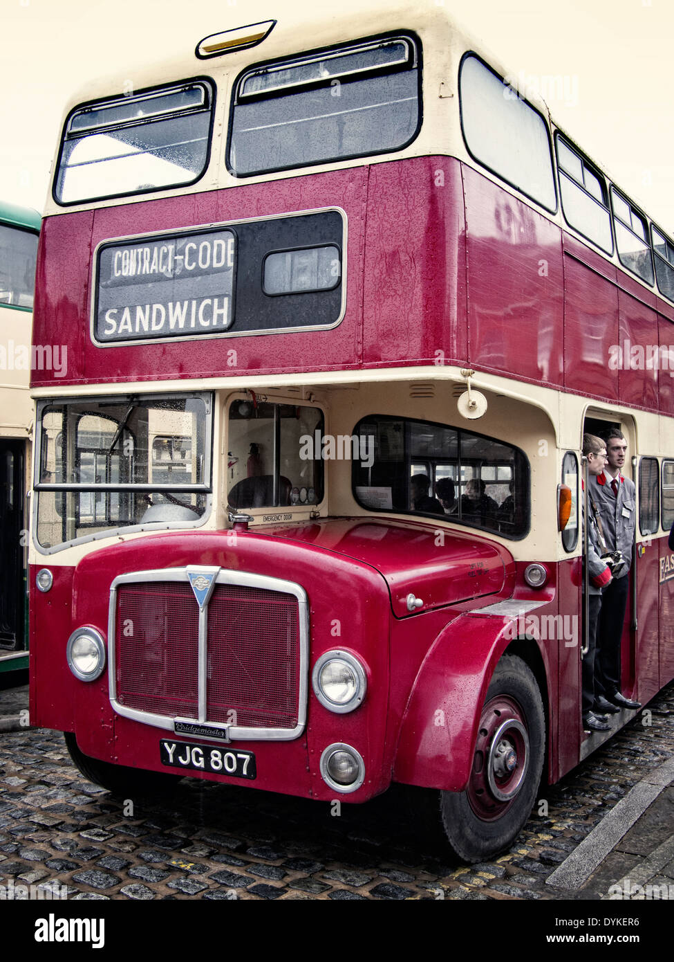 1962 AEC Bridgemaster bus of East Kent Bus company in Sandwich Kent UK - Stock Image