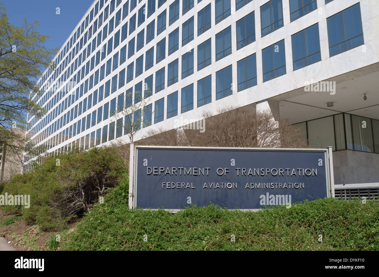 United States Department of Transportation Building Federal Aviation Administration - Stock Image