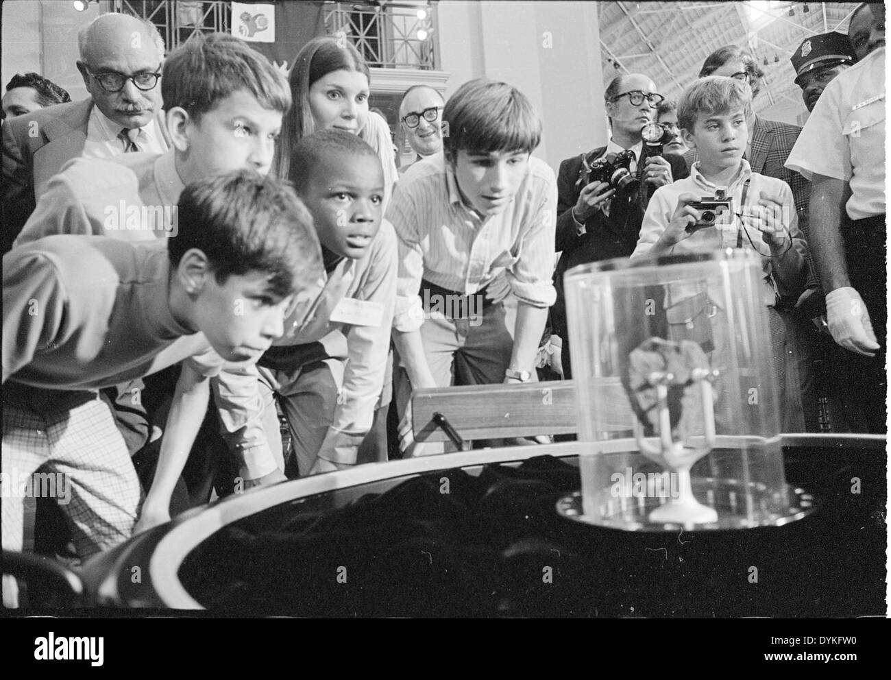 Lunar Sample Exhibit, Arts & Industries Building, 1970 - Stock Image