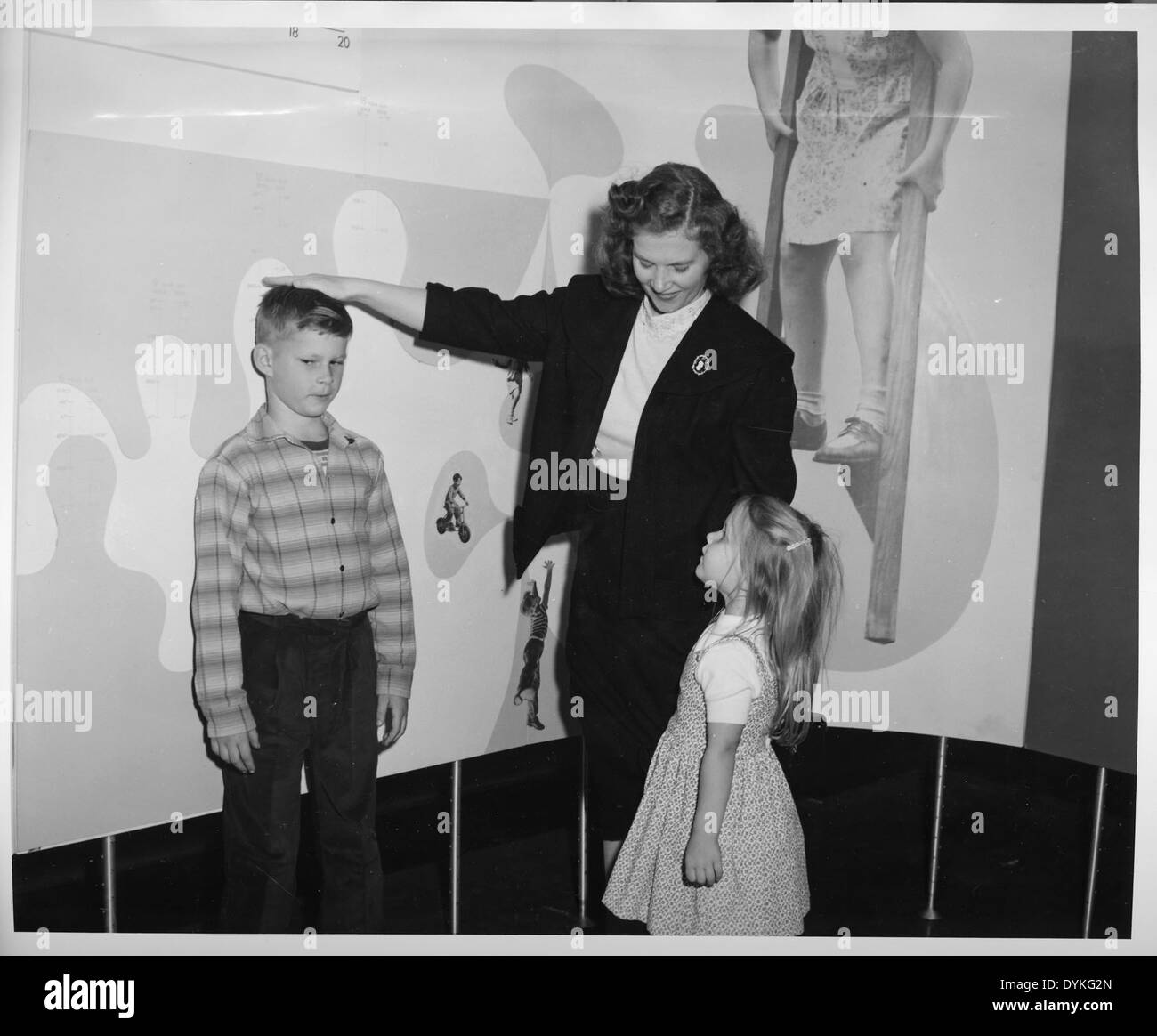 'How Tall Are You Exhibit,' Hall of Health, Arts & Industries Building - Stock Image