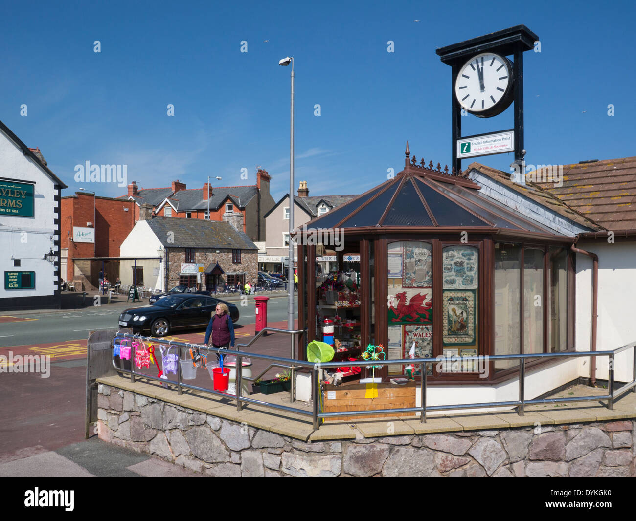 Tourist Information Centre Rhos on Sea Conwy North Walespopular Welsh seaside resort Stock Photo