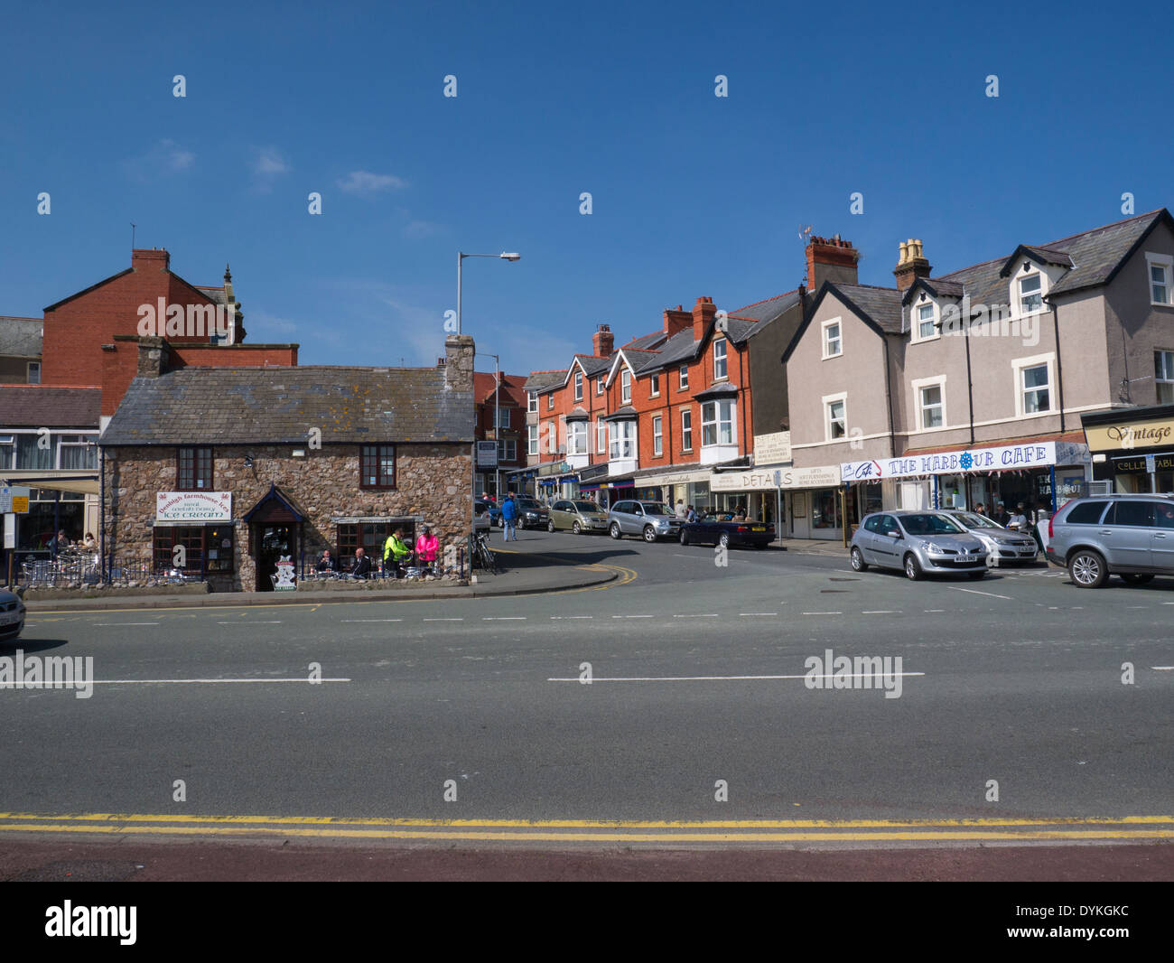 Rhos-on-Sea Conwy North Wales town centre popular Welsh seaside resort - Stock Image