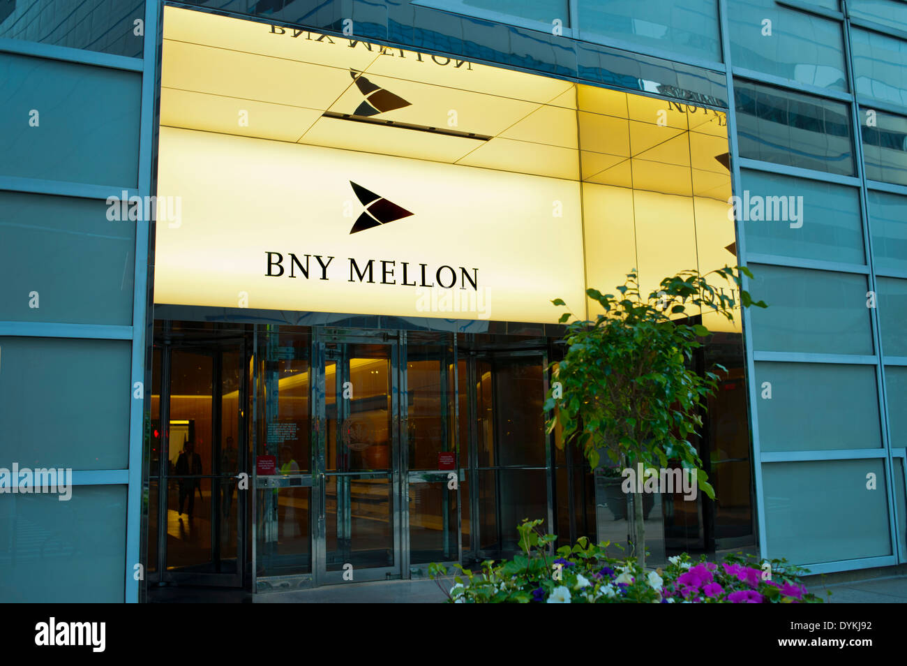 BNY Mellon Financial offices in Downtown Manhattan, New York City - Stock Image