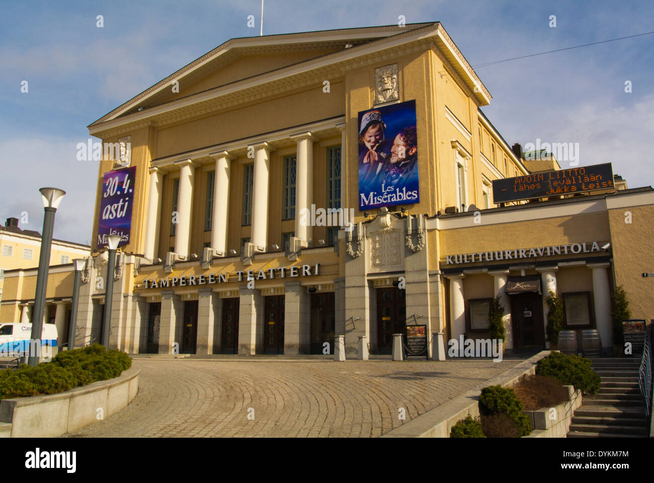 Tampereen teatteri, the main theatre (1913), Tampere, central Finland, Europe Stock Photo
