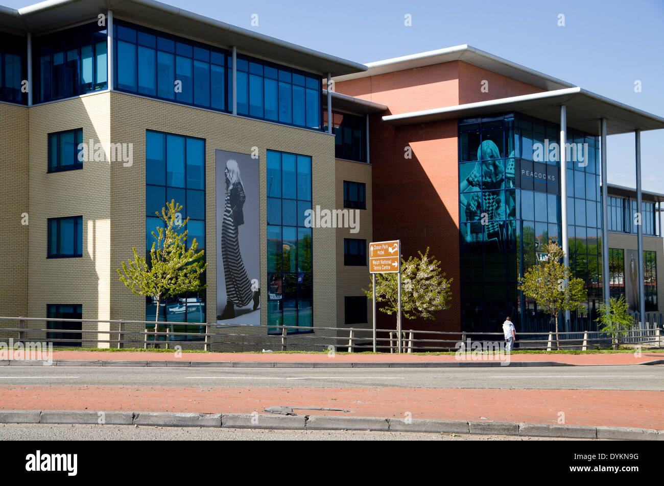 Peacocks retail corporate headquarters, Cardiff, Wales. - Stock Image
