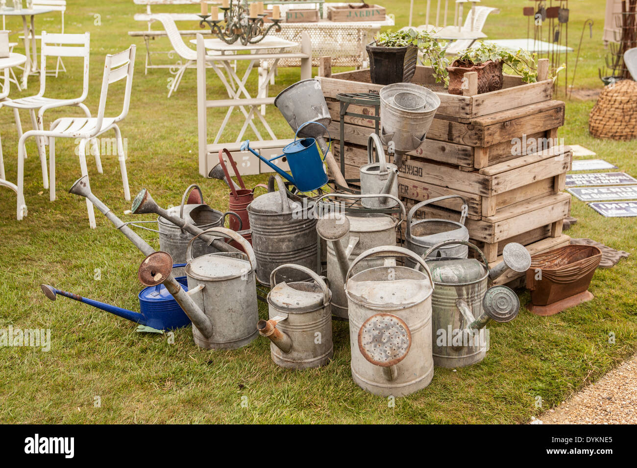 Watering cans - Stock Image
